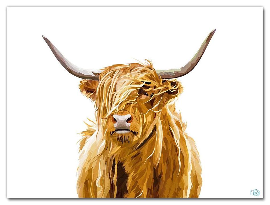 highland coo artist als couzens