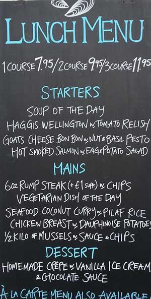 mussel steak bar grassmarket cafe seafood speacials